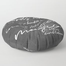 Words Are Magic (Dark) Floor Pillow