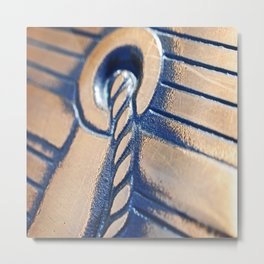 Abstract and Gold Metal Print