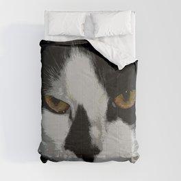 Black white cat II Comforters