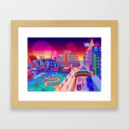 Dreamland City Framed Art Print