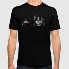 Alice Goes to California Black LARGE Mens Fitted Tee