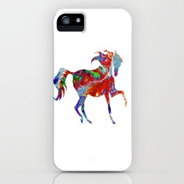 Horse Colorful Silhouette iPhone Case