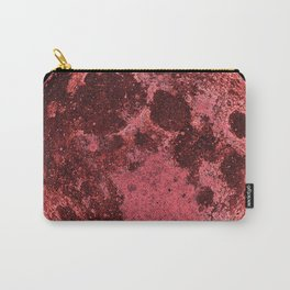 Illustration of red full moon Carry-All Pouch