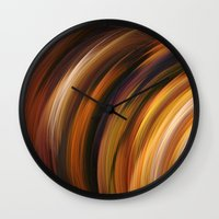the strokes Wall Clocks featuring Strokes by Andi GreyScale