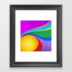 Rainbow Colors Abstract Fantasy Framed Art Print