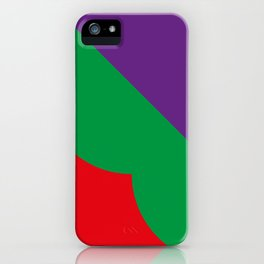 Important meeting of two halves of a nut; one is green, the other's purple. iPhone Case