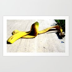 Banana Peel Art Print