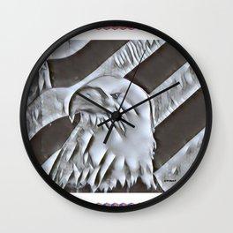 """Eagle Glory"" Wall Clock"