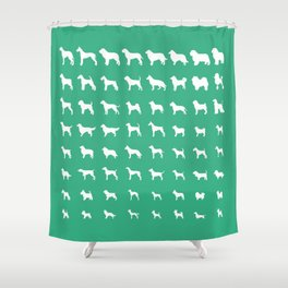 All Dogs (Mint) Shower Curtain