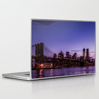 brooklyn bridge Laptop & iPad Skins featuring Brooklyn Bridge by hannes cmarits (hannes61)