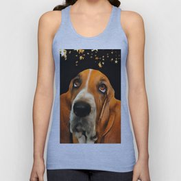 A Basset Hound. (Painting.) Unisex Tank Top