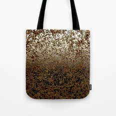 Caramelized Chocolate Brown Wet Crackle Pattern Tote Bag