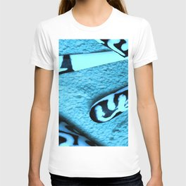 Blue on Ivory T-shirt