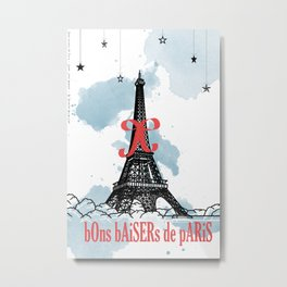 Bon baisers de paris Metal Print