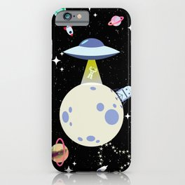 Alien Abduction! iPhone Case