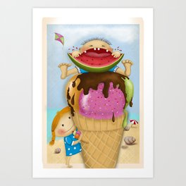 The pleasure of being twin Art Print