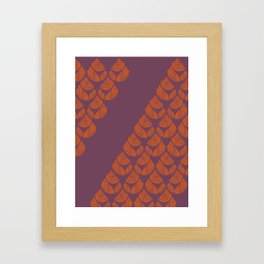 Orange Drops Framed Art Print
