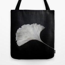 Ginkgo on black Tote Bag