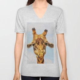 Impressive Animal - Giraffe 2 Unisex V-Neck