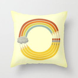 The Infinite Doodle Throw Pillow