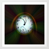 Magic of colors - Time is running out Art Print