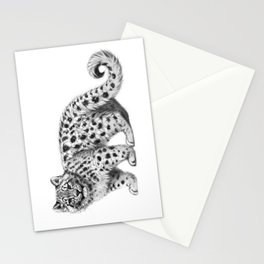 Snow Leopard cub g142 Stationery Cards