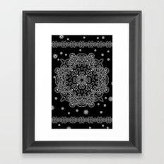 Elegant Black and White Mandala Case Framed Art Print