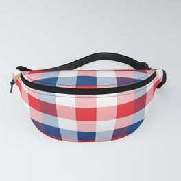 Blue & Red Square Combination Fanny Pack
