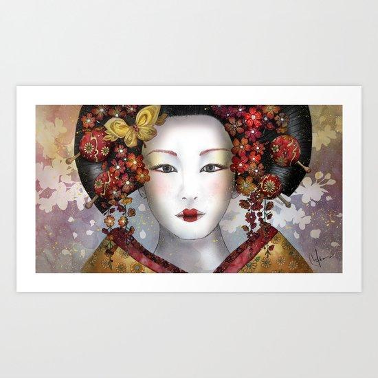 Becoming a Geisha  Art Print