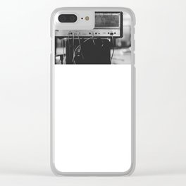 Guitar Amp Black And White Photograph Clear iPhone Case