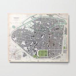 Plan of Brussels - 1837 Metal Print