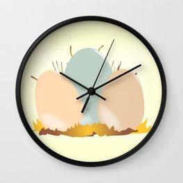 Cuckoo Eggs Wall Clock