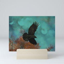 Soaring Crow Mini Art Print