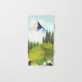 Alpine Meadow landscape Hand & Bath Towel