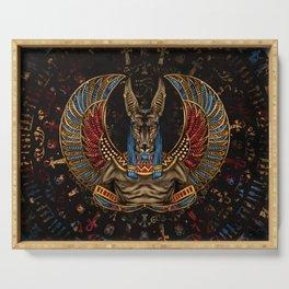 Anubis - Egyptian God Serving Tray