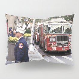 The Fire Dept of New York at 30 Rock Pillow Sham