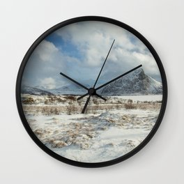 The Land of snow Wall Clock