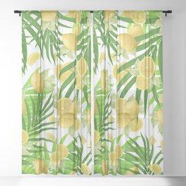 Summer Lemon Twist Jungle #2 #tropical #decor #art #society6 Sheer Curtain