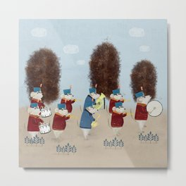 the marching mouse band Metal Print