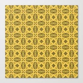 Primrose Yellow Diamond Floral Canvas Print