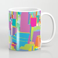 cityscape Mugs featuring Cityscape by Glen Gould