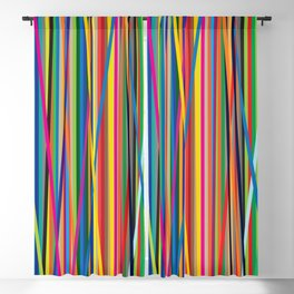 STRIPES STRIPES STRIPES Blackout Curtain