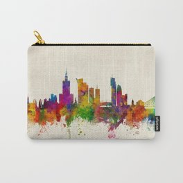 Warsaw Poland Skyline Carry-All Pouch