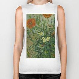 "Vincent Van Gogh ""Butterflies and Poppies"" Biker Tank"