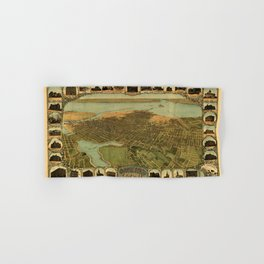 Map Of Oakland 1900 Hand & Bath Towel