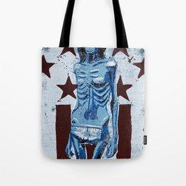 Love In America (Blue) Tote Bag