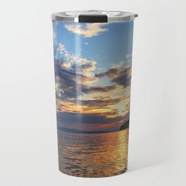 Sunset Over Lake Champlain Travel Mug