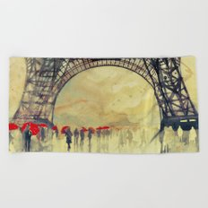 Winter in Paris Beach Towel