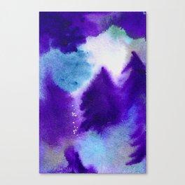 Forest Blanket - Dark Purple Palette Canvas Print