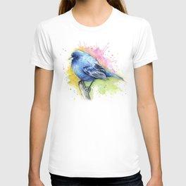Blue Bird Indigo Bunting Colorful Animals T-shirt